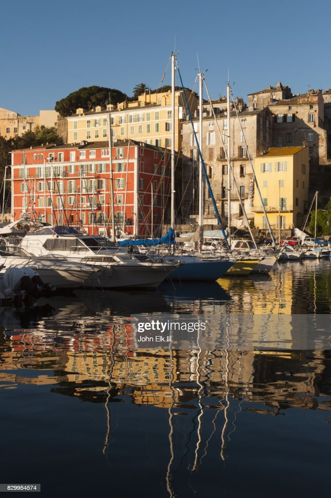 Bastia Vieux Port From Harbor Stock Photo Getty Images
