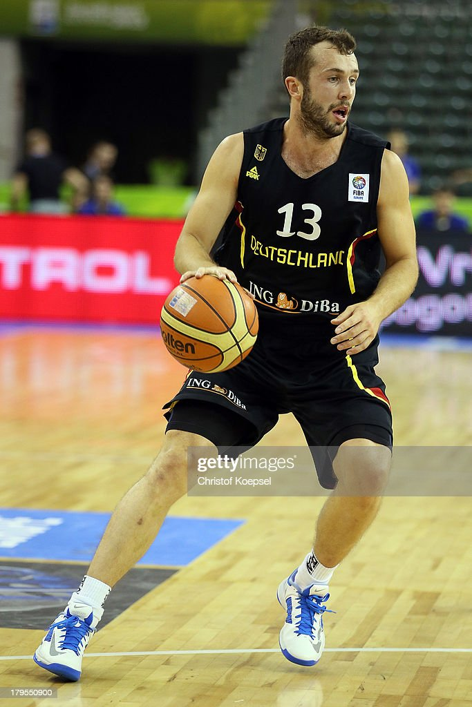 Bastian Doreth of Gemany leads the ball during the FIBA European Championships 2013 first round group A match between France and Germany at Tivoli Arena on September 4, 2013 in Ljubljana, Slovenia.