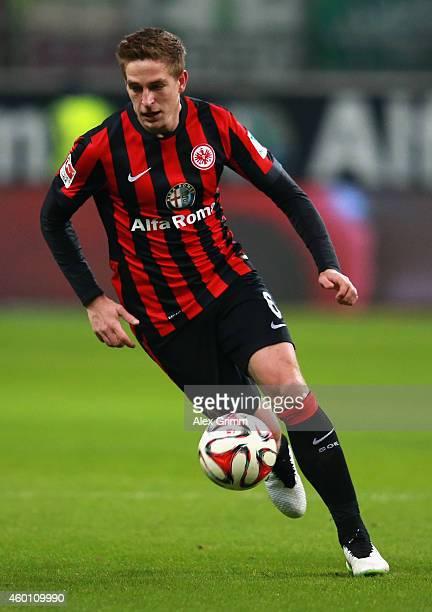 Bastian Oczipka of Frankfurt controles the ball during the Bundesliga match between Eintracht Frankfurt and SV Werder Bremen at CommerzbankArena on...