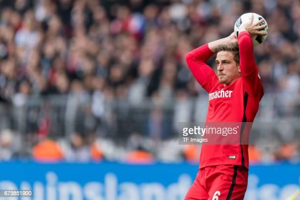 Bastian Oczipka of Frankfurt controls the ball during the Bundesliga match between Borussia Dortmund and Eintracht Frankfurt at Signal Iduna Park on...
