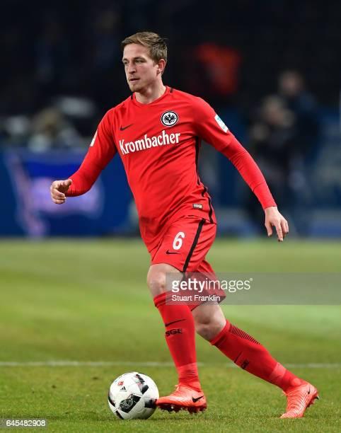 Bastian Oczipka of Frankfurt in action during the Bundesliga match between Hertha BSC and Eintracht Frankfurt at Olympiastadion on February 25 2017...