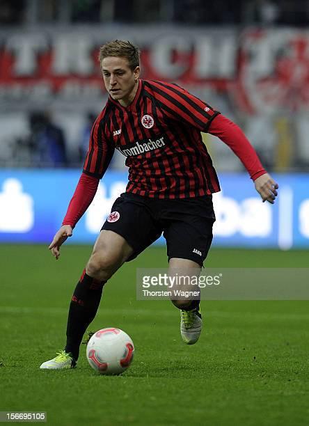 Bastian Oczipka of Frankfurt run witht ball during the Bundesliga match between Eintracht Frankfurt and FC Augsburg at CommerzbankArena on November...