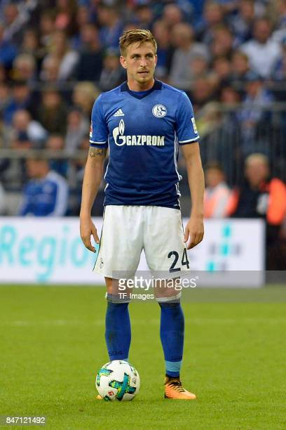 Bastian Oczipka of Schalke controls the ball during the Bundesliga match between FC Schalke 04 and VfB Stuttgart at VeltinsArena on September 10 2017...