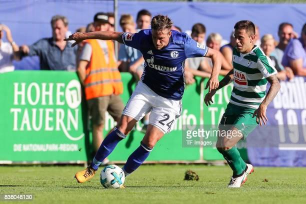 Bastian Oczipka of Schalke controls the ball during the preseason friendly match between FC Schalke 04 and SD Eibar on July 30 2017 in Mittersill...