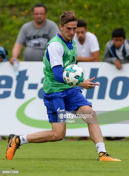 Bastian Oczipka of Schalke controls the ball during the Training Camp of FC Schalke 04 on July 30 2017 in Mittersill Austria