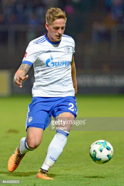 Bastian Oczipka of Schalke in action during the preseason friendly match between FC Gütersloh and FC Schalke 04 on August 31 2017 in Gütersloh Germany