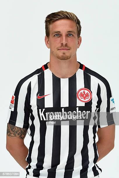 Bastian Oczipka poses during the Eintracht Frankfurt Team Presentation on July 21 2016 in Frankfurt am Main Germany