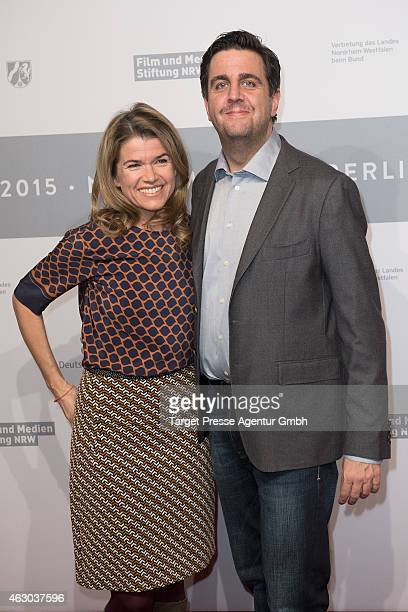 Bastian Pastewka and Anke Engelke attend the NRW Reception 2015 at Landesvertretung on February 8 2015 in Berlin Germany