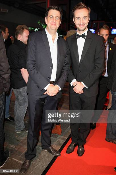 Bastian Pastewka and Jan Boehmermann attend the 17th Annual of the German Comedy Awards at Coloneum on October 15 2013 in Cologne Germany