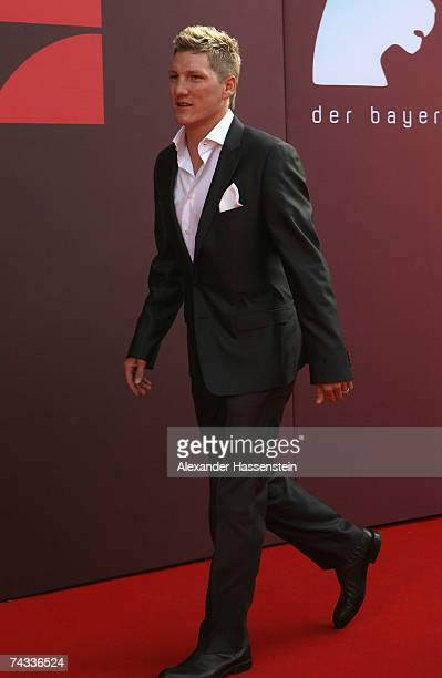 Bastian Schweinsteiger arrives for the 'Blaue Panther' Bavarian Television Award 2007 Ceremony at the Prinzregenten Theater on May 25 2007 in Munich...