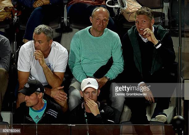 Bastian Schweinsteiger attends the match between Ana Ivanovic of Serbia and Anastasia Pavlychenkova of Russia on Day Two of The Internazionali BNL...