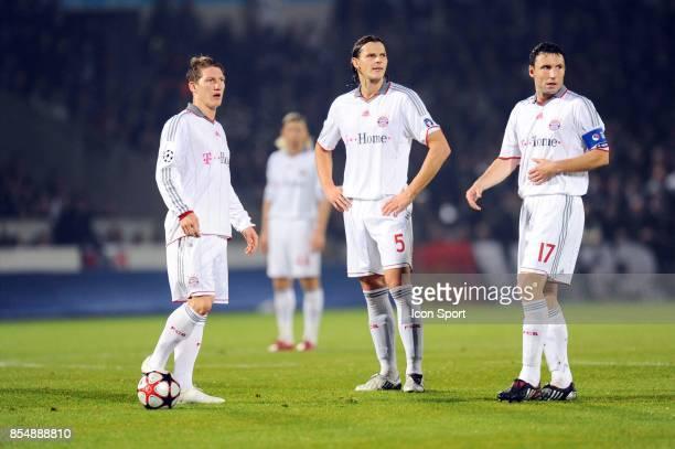 Bastian SCHWEINSTEIGER / Daniel VAN BUYTEN / Mark VAN BOMMEL Bordeaux / Bayern Munich Champions League Stade Chaban Delmas Bordeaux