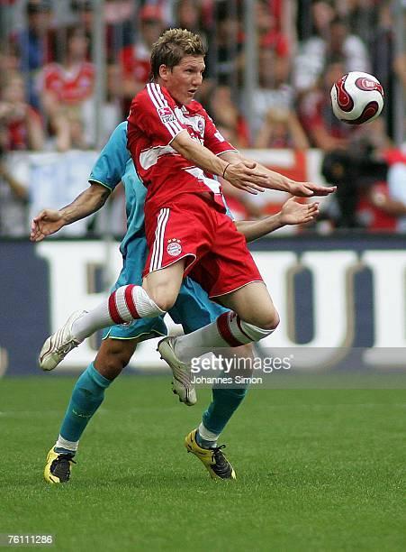 Bastian Schweinsteiger of Bayern Munich in action during the Franz Beckenbauer Cup match between Bayern Munich and Barcelona at the Allianz Arena on...
