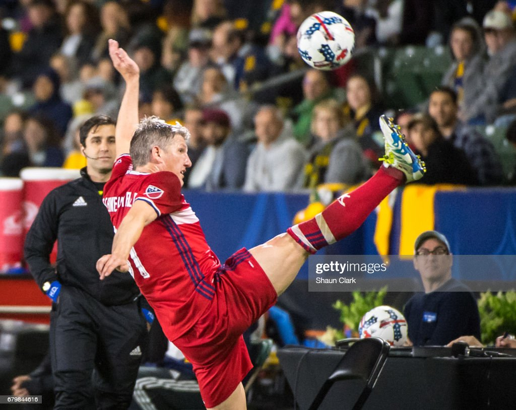 Bastian Schweinsteiger #31 of Chicago Fire during the Los Angeles Galaxy's MLS match against Chicago Fire at the StubHub Center on May 6, 2017 in Carson, California. The match ended in a 2-2 tie.