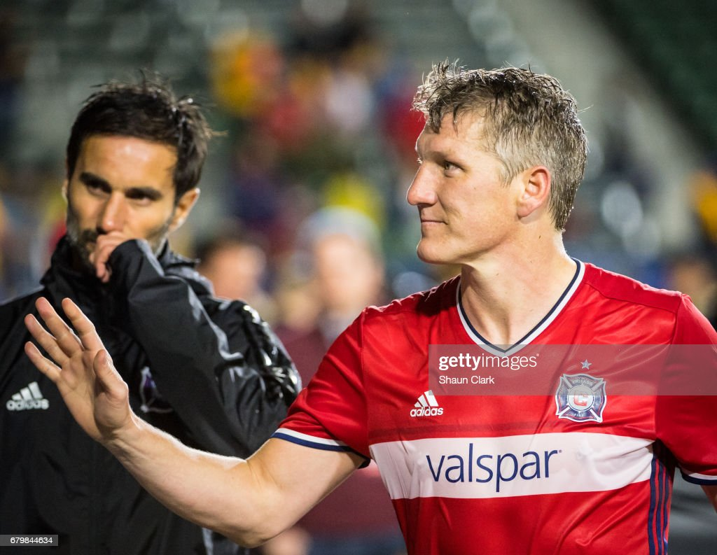 Bastian Schweinsteiger #31 of Chicago Fire following the Los Angeles Galaxy's MLS match against Chicago Fire at the StubHub Center on May 6, 2017 in Carson, California. The match ended in a 2-2 tie.