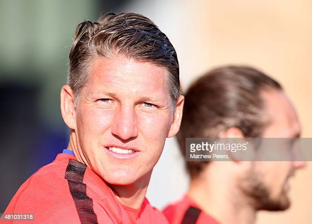 Bastian Schweinsteiger of Manchester United in action during a first team training session as part of their preseason tour of the USA at VMAC on July...