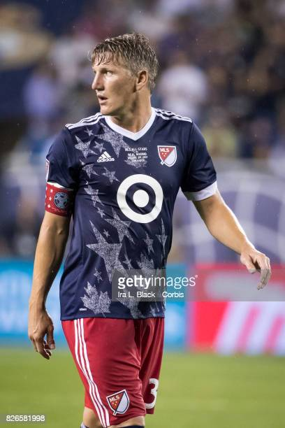Bastian Schweinsteiger of the MLS AllStars during the MLS AllStar match between the MLS AllStars and Real Madrid at the Soldier Field on August 02...