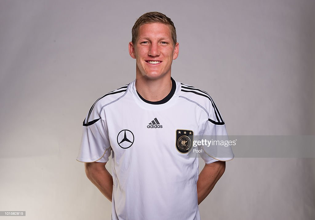 Bastian Schweinsteiger poses during the official team photocall of the German FIFA 2010 World Cup squad on June 3, 2010 in Frankfurt am Main, Germany.