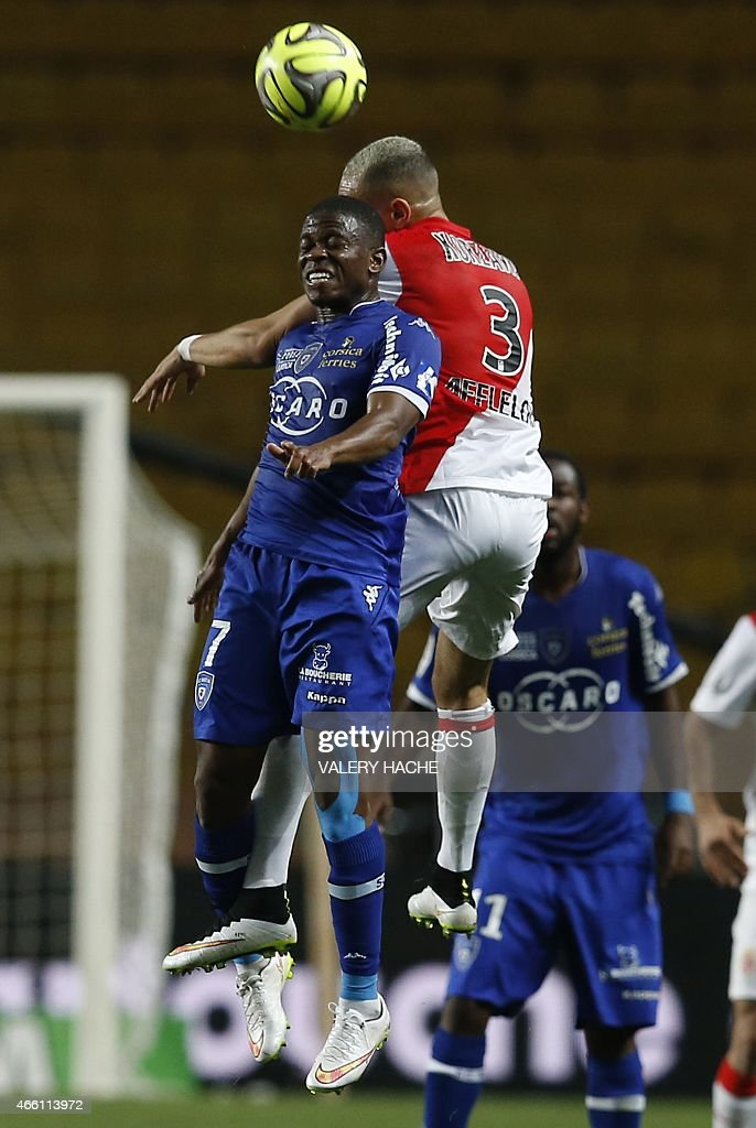 Bastia's French midfeilder <a gi-track='captionPersonalityLinkClicked' href=/galleries/search?phrase=Floyd+Ayite&family=editorial&specificpeople=5969808 ng-click='$event.stopPropagation()'>Floyd Ayite</a> vies with Monaco's French defender <a gi-track='captionPersonalityLinkClicked' href=/galleries/search?phrase=Layvin+Kurzawa&family=editorial&specificpeople=7204350 ng-click='$event.stopPropagation()'>Layvin Kurzawa</a> (R) during the French L1 football match between Monaco (ASM) and Bastia (SCB) on March 13, 2015 at the 'Louis II Stadium' in Monaco.