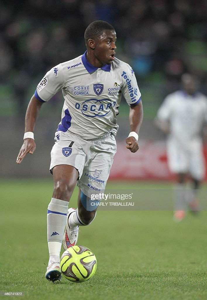 Bastia's French Togolese midfielder <a gi-track='captionPersonalityLinkClicked' href=/galleries/search?phrase=Floyd+Ayite&family=editorial&specificpeople=5969808 ng-click='$event.stopPropagation()'>Floyd Ayite</a> runs with the ball during the French L1 football match between Caen (SM Caen) and Bastia (SC Bastia), on December 20, 2014, at the Michel d'Ornano stadium, in Caen, northwestern France.