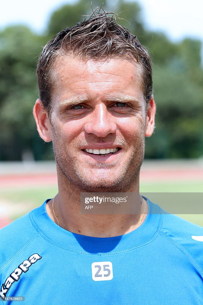 Bastia's midfielder <a gi-track='captionPersonalityLinkClicked' href=/galleries/search?phrase=Jerome+Rothen&family=editorial&specificpeople=641568 ng-click='$event.stopPropagation()'>Jerome Rothen</a> poses after a training session on July 4, 2012 in Propriano, French Mediterranean island of Corsica.