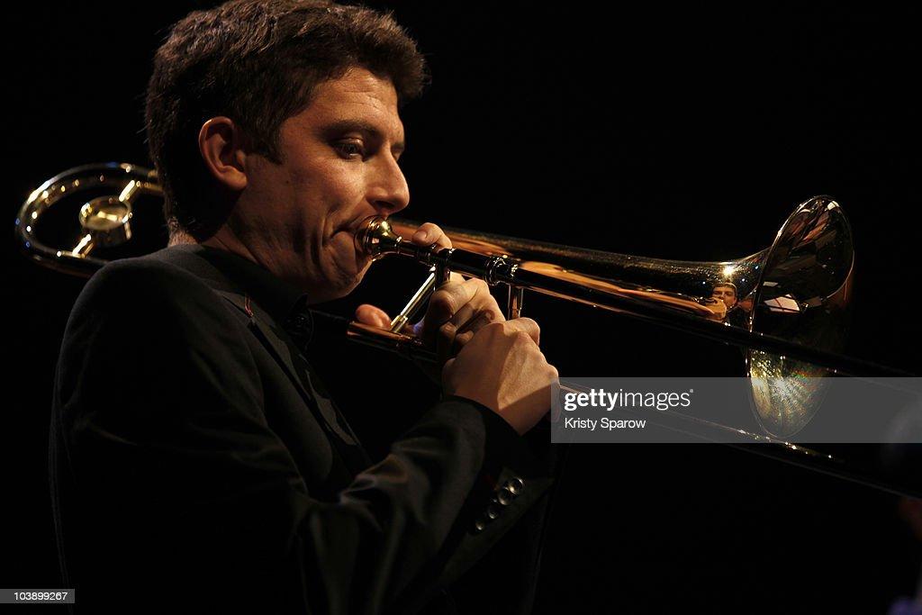 Bastien Ballaz Septet performs onstage during the Jazz A La Villette Festival at Grande Halle de La Villette on September 7, 2010 in Paris, France.