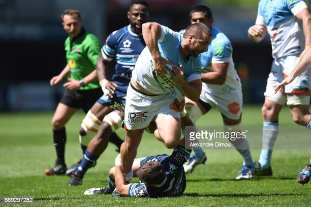 Bastien Duhalde of Bayonne during the Top 14 match between Montpellier and Bayonne on April 16 2017 in Montpellier France