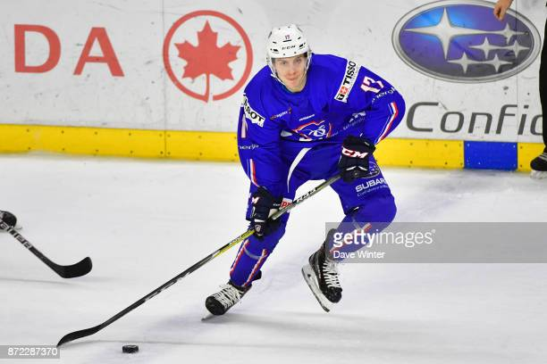 Bastien Maia of France during the EIHF Ice Hockey Four Nations tournament match between France and Slovenia on November 9 2017 in Cergy France