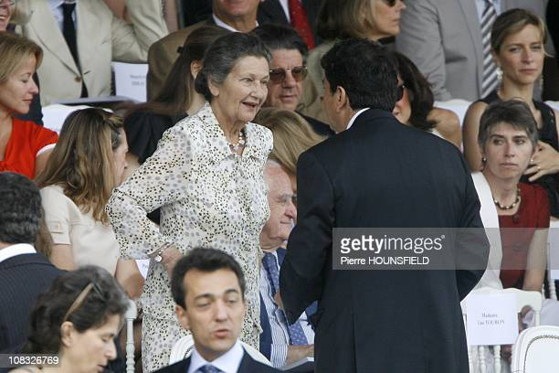 Bastille Day annual military parade in Paris Simone Veil in Paris France on July 14th 2010