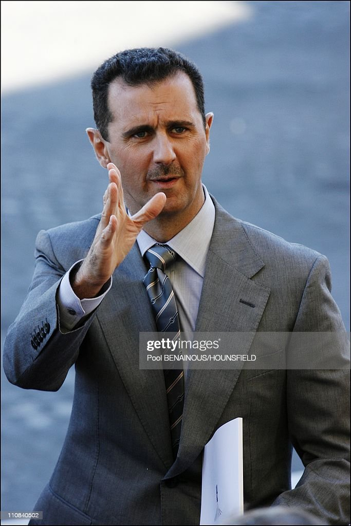Bastille Day Parade In Paris, France On July 14, 2008 - Bashar Al-Assad.