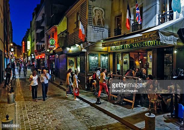 Bastille District in Paris, France