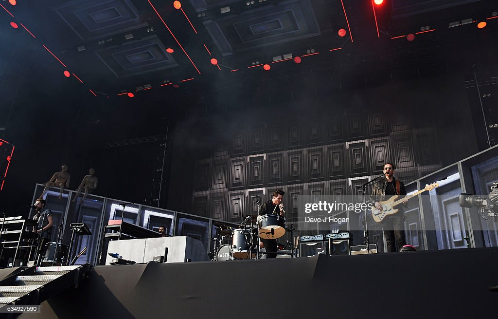 Bastille performs during day 1 of BBC Radio 1's Big Weekend at Powderham Castle on May 28, 2016 in Exeter, England.