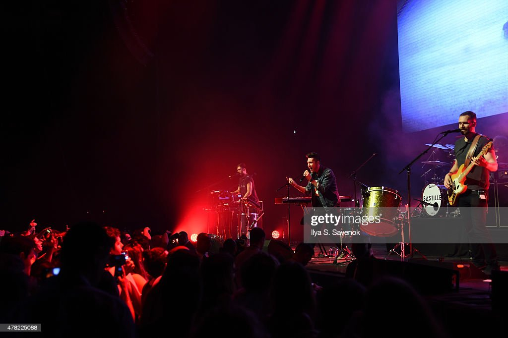 Bastille performs onstage at the Mercedes-Benz 2015 Evolution Tour kick-off on June 24, 2015 in New York City.