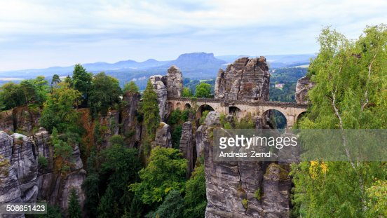 Bastion Bridge in Saxonia near Dresden : Stock Photo