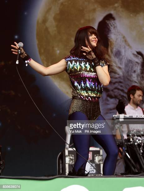 Bat for Lashes performing during the 2009 Glastonbury Festival at Worthy Farm in Pilton Somerset