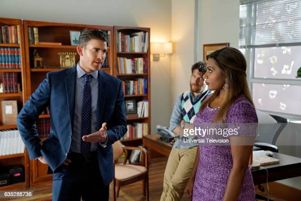 PROJECT 'Bat Mitzvah' Episode 509 Pictured Bryan Greenberg as Ben Adam Pally as Peter Prentice Mindy Kaling as Mindy Lahiri