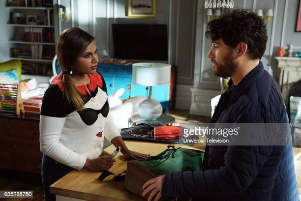 PROJECT 'Bat Mitzvah' Episode 509 Pictured Mindy Kaling as Mindy Lahiri Adam Pally as Peter Prentice