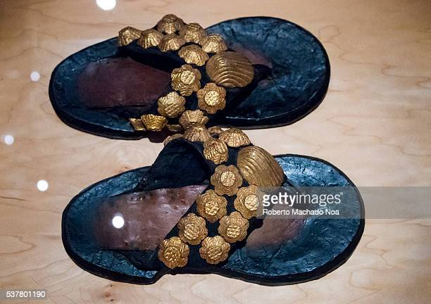 Bata Shoe Museum Vintage African shoes typical of the gold mines areas The museum collects researches preserves and exhibits footwear from around the...