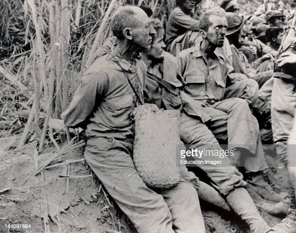 Bataan About May 1942 The March Of Death From Bataan To Cabanatuan The Prison Camp Along The March These Prisoners Were Photographed They Have Their...