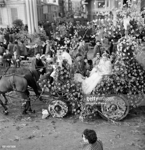 Bataille des Fleurs à Nice France le 13 février 1953