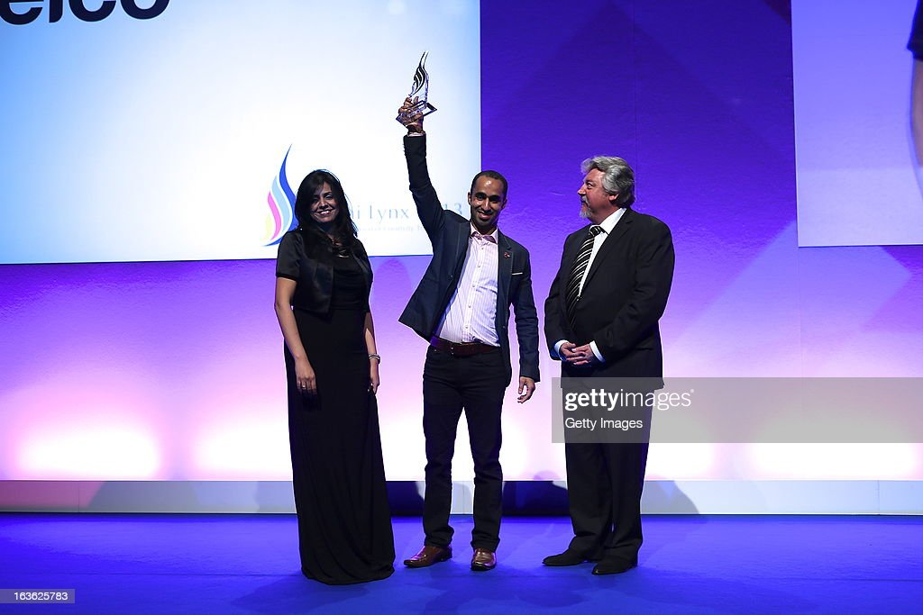 Batelco collect the Grand Prix prize for Adveriser of the Year, at the Dubai Lynx Awards, Madinat Jumeirah on March 13, 2013 in Dubai, United Arab Emirates.