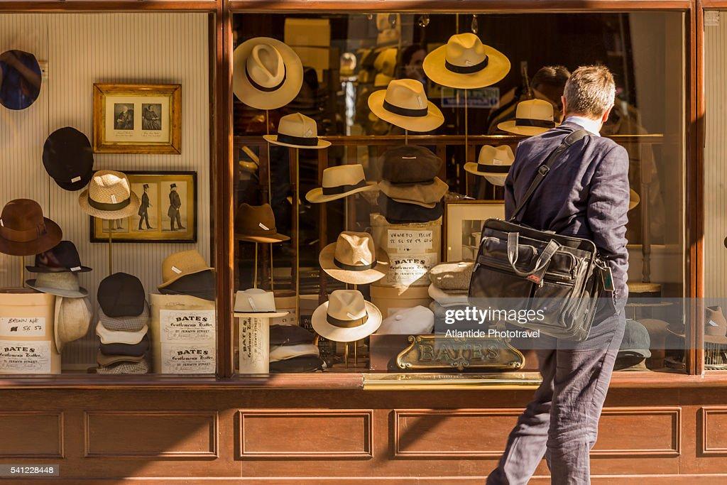 Bates Hats shop window