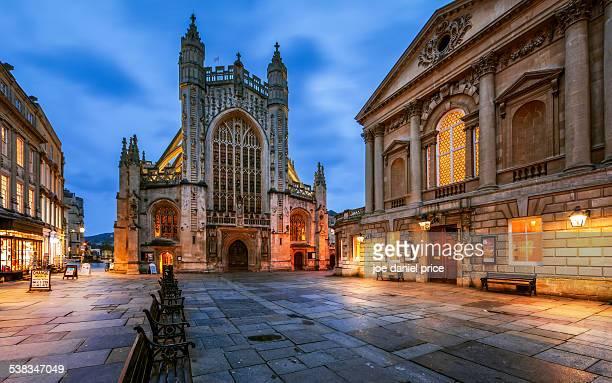 Bath Abbey, Roman Baths, Somerset, England