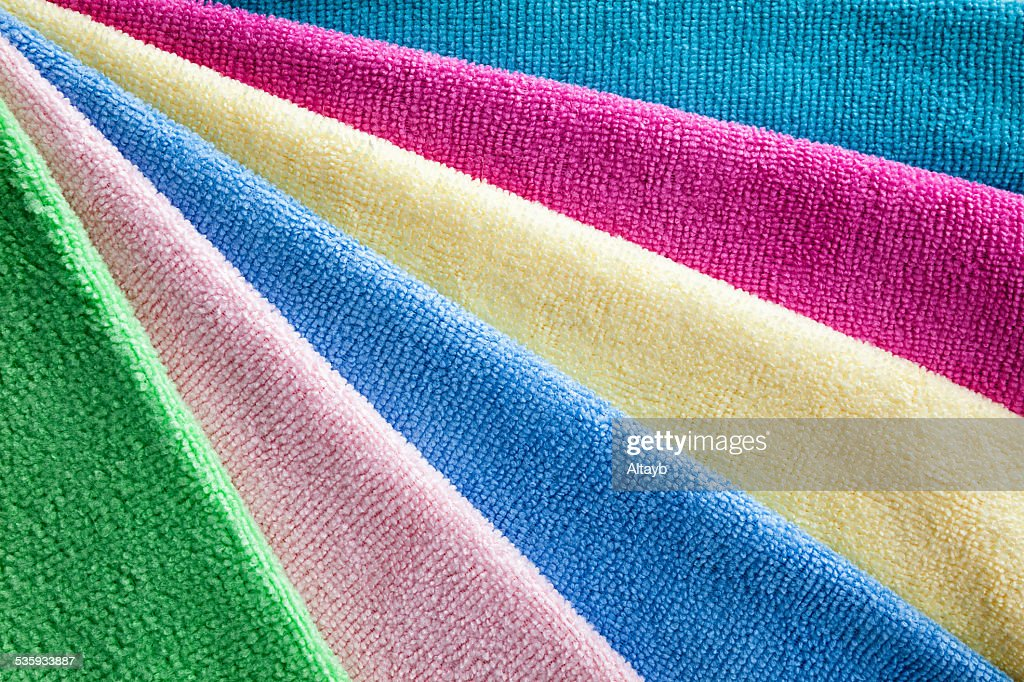 Bath colorful towels : Stock Photo