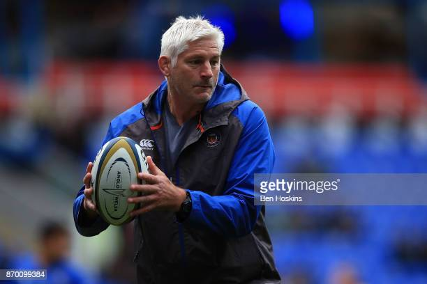 Bath Director of Rugby Todd Blackadder looks on ahead of the AngloWelsh Cup between London Irish and Bath at Madejski Stadium on November 4 2017 in...