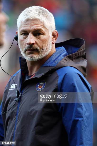 Bath Director of Rugby Todd Blackadder looks on prior to the Aviva Premiership match between London Irish and Bath Rugby at Madejski Stadium on...