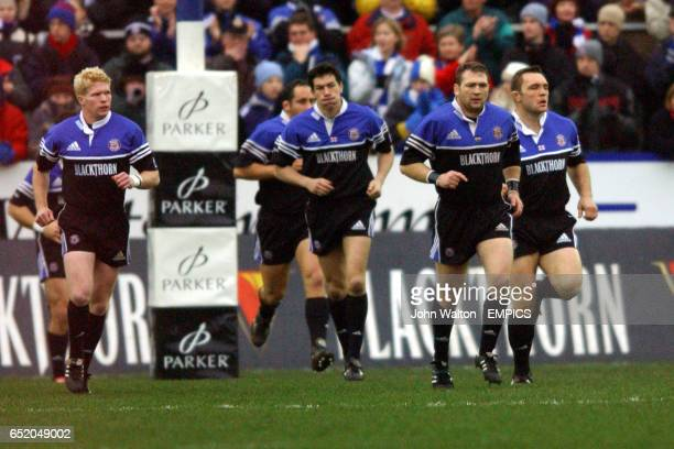 Bath players return to their positions