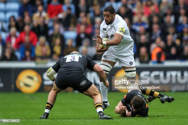 Bath Rugby's Taulupe Faletau during the Aviva Premiership match between Wasps and Bath Rugby at The Ricoh Arena on October 1 2017 in Coventry England