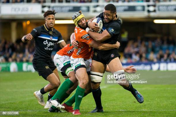 Bath Rugby's Taulupe Faletau in action during the European Rugby Champions Cup match between Bath Rugby and Benetton Rugby at Recreation Ground on...