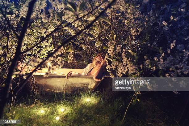 春のバスルーム